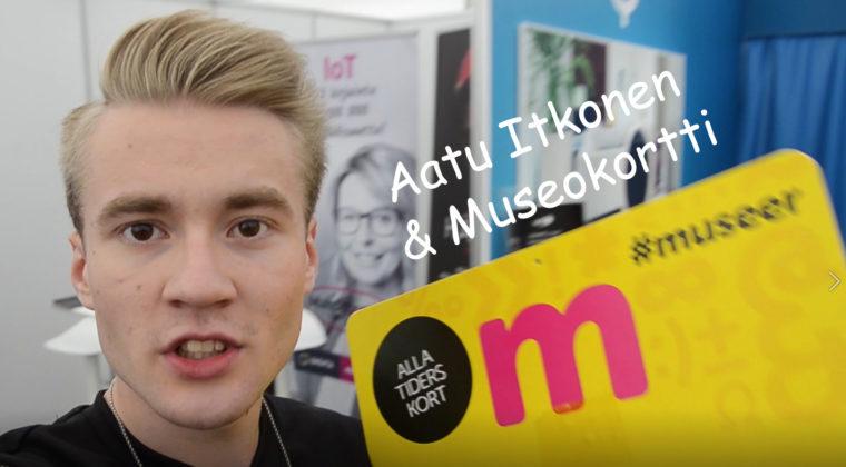 Vloggaaja Aatu Itkonen esittelee Museokorttia.