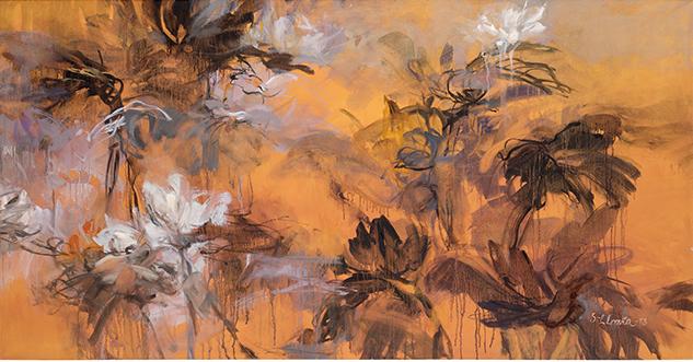 Sirkka-Liisa Lonan teos Syysrieha, öljy, 2013
