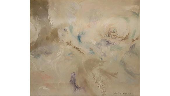 Sirkka-Liisa Longan maalaus Vesimiehen vuosi III (Vedenalainen III), 1988