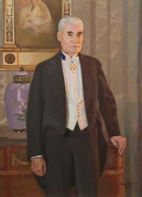 Antti Favénin Emil Aaltosen muotokuvamaalaus, 1935, öljy kankaalle