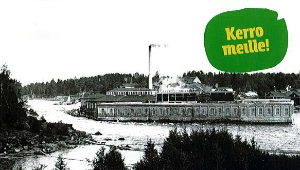 Inkeroisten kartonkitehdas 1910-luvulla. Kuva: Stora Enso